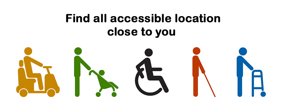 Find all accessible location close to you