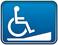 icônes d'accessibilité - Entrée par rampe d'accès